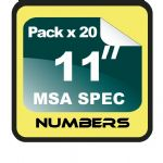 "11"" Race Numbers MSA SPEC - 20 pack"